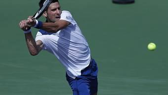 Novak Djokovics Bewegungen sind nach der Operation am Schlagarm noch nicht wieder rund