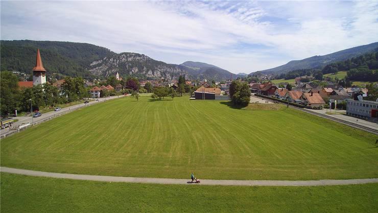 Für 4,1 Mio. Franken will Balsthal die sogenannte Hunzikerwiese an die Genossenschaft für Altersbetreuung und Pflege Gäu verkaufen.