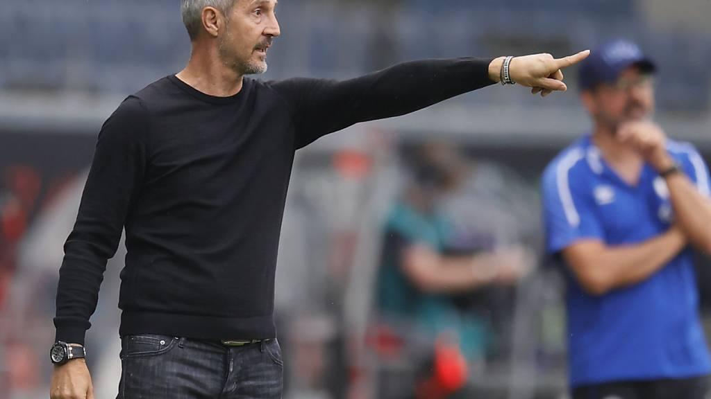 Frankfurts Sportvorstand Bobic will Trainer Hütter halten