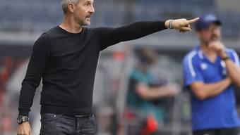 Trainer Adi Hütter dürfte bei Eintracht Frankfurt bald einen neuen Vertrag unterschreiben