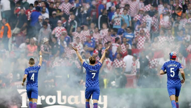 Fans brachten die kroatischen Spieler aus dem Konzept