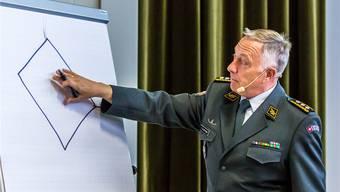 Mit einer Prise Lokalbezug unterhielt André Blattmann die Besucher/-innen in Rickenbach gekonnt bei seinem Referat.