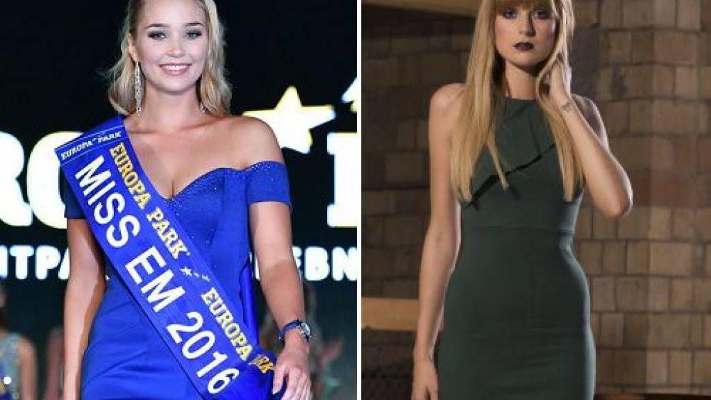 Arna Ýr Jónsdóttir aus Island (l) wurde am Samstag in Rust zur Miss EM gekürt. Die Schweizerin Sandra Meier war nicht unter den Top Three. (