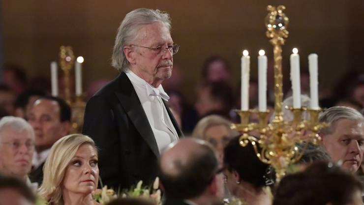 Der Schriftsteller Peter Handke bei der Nobelpreisfeier.