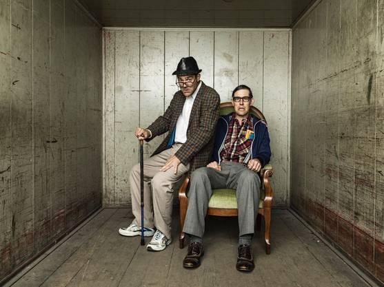 Strohmann - Kauz, eigentlich Rhaban Straumann und Matthias Kunz, zwei Theaterkabarettisten mit ungebremstem Hang zum Bodenständigen im «Heimspiel»