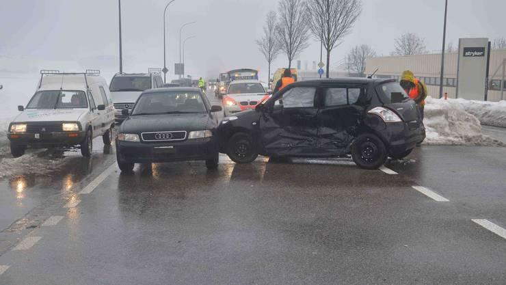 Die 33-Jährige konnte nicht mehr bremsen und krachte in ein entgegenkommendes Auto.