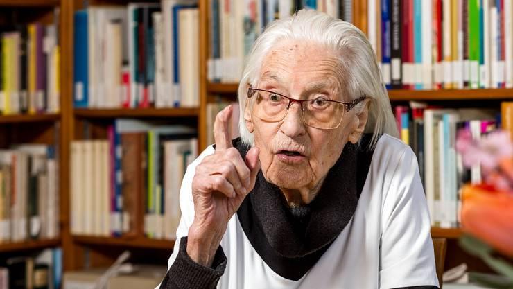 Feiert dieses Jahr ihren 100. Geburtstag: Marthe Gosteli.