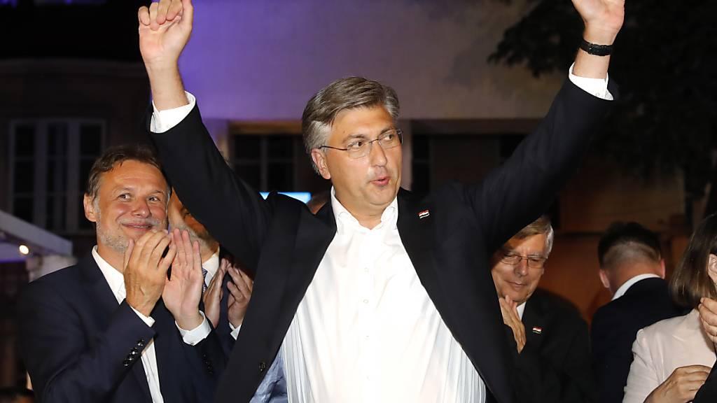 Rechte Regierungspartei HDZ gewinnt Parlamentswahl in Kroatien klar