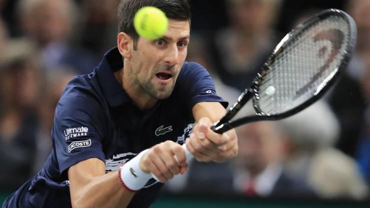 Novak Djokovic strebt in Paris-Bercy seinen fünften Titel an