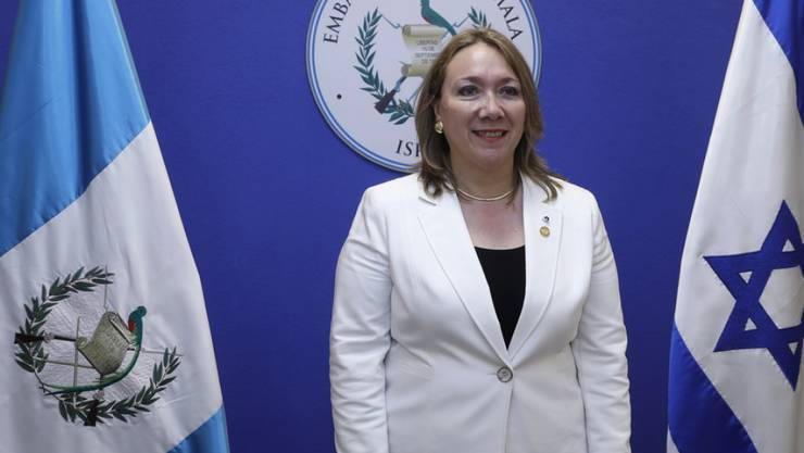 """Sprach von einem """"historischen Tag"""": Guatemalas Botschafterin Sara Solis bei der Eröffnung der guatemaltekischen Botschaft in Jerusalem."""