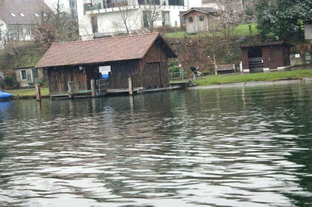 Die Kaiseraugster Anlegestelle für die Rheinfähre
