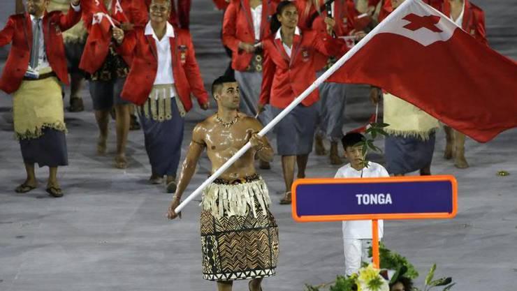 Gehören zu den Delegationen, die kostenlos ausgerüstet wurden: die Athleten aus dem Inselstaat Tonga. Sie treten in Bogenschiessen, Taekwondo und Schwimmen an