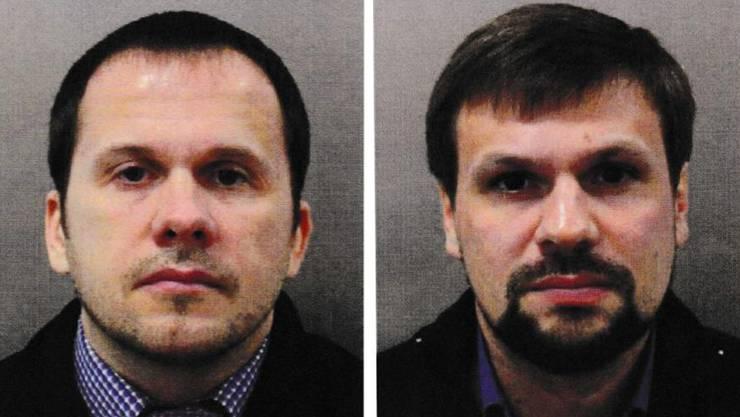 Die gesuchten Alexander Petrov und Ruslan Boshirov.