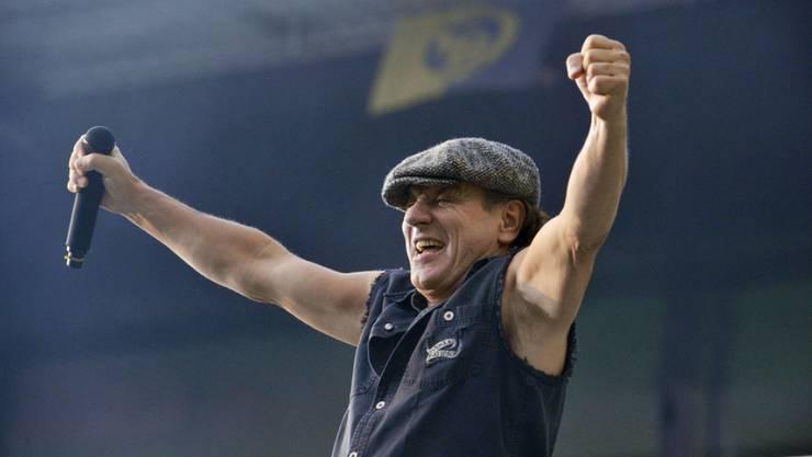 Eingefleischte AC/DC geben sich nur ungern mit einem Ersatz für Brian Johnson (Bild) zufrieden: Am 29. Mai im Stade de Suisse wird der an Hörproblemen leidende Sänger durch Guns N'Roses-Frontmann Axl Rose vertreten. (Archiv)