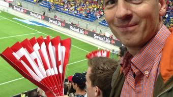 Roland Brack ist leidenschaftlicher Fan der Schweizer Nationalmannschaft.ZVG