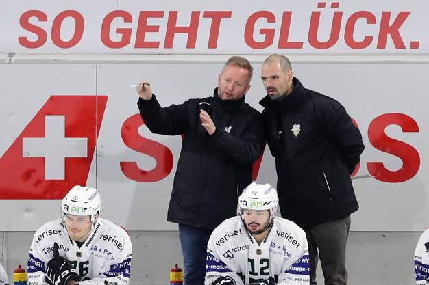 Gibt es eine gemeinsame Zukunft beim EHCO? Headcoach Fredrik Söderström (l.) und Marc Grieder werden bald zusammen verhandeln.