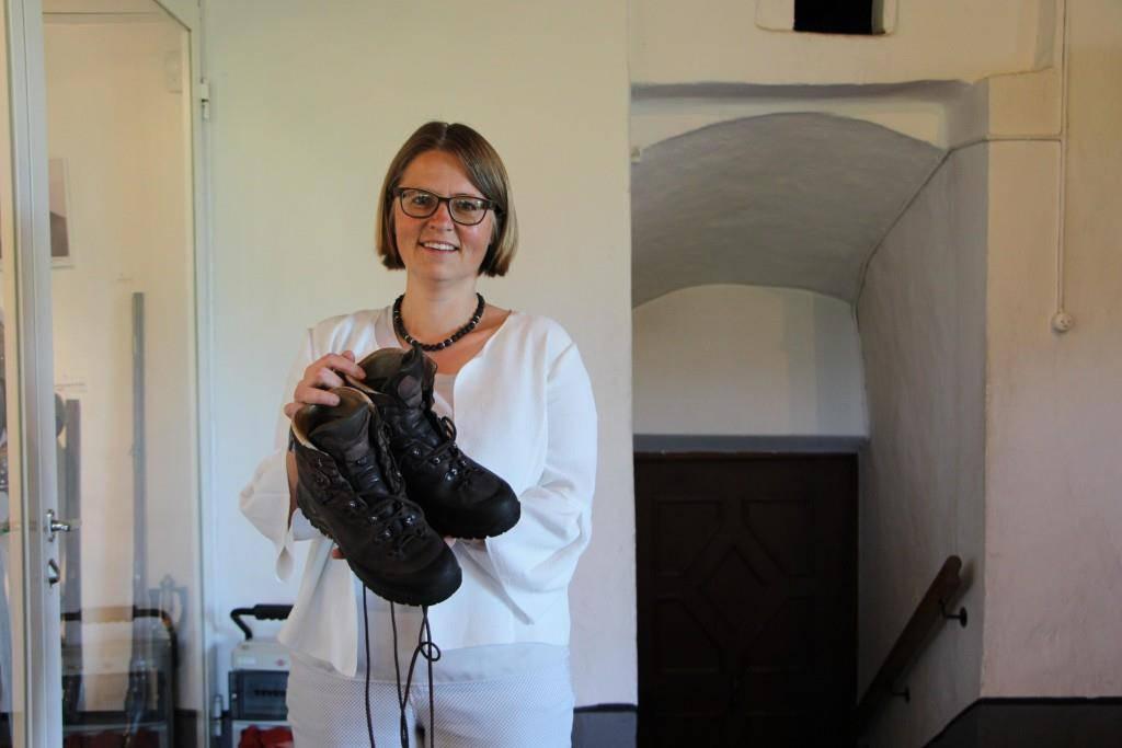 Jolanda Eichenberger ist bereit für ihre Reise. (© FM1Today/Krisztina Scherrer)