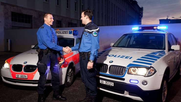 Kantonspolizei (links), Stadtpolizei (rechts): Zusammenarbeit oder Integration? zvg