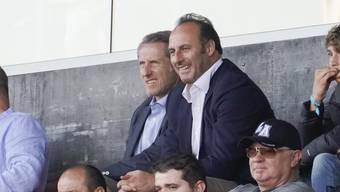 Ramon Vega (r.) mit dem ehemaligen GC-Präsident Stephan Anliker.