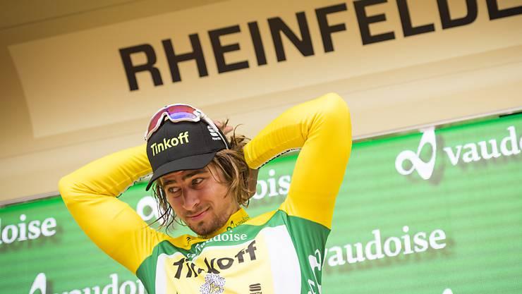 Peter Sagan verteidigt das Leader-Trikot an der Tour de Suisse