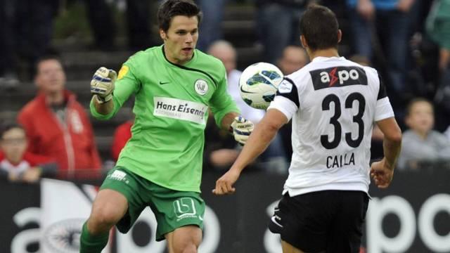 Wil-Hüter Timon Waldvogel wurde gleich dreimal bezwungen.