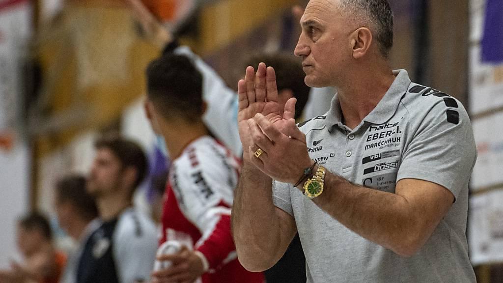 Goran Perkovac zog mit Kriens-Luzern nach einem dramatischen fünften Spiel gegen Wacker Thun in den Halbfinal ein