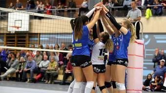 Die Spielerinnen von Sm'Aesch Pfeffingen konnten heute den ersten Playoff-Sieg bejubeln.