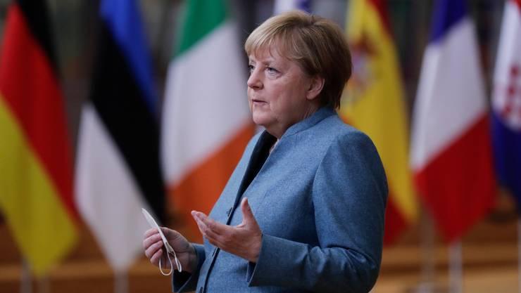 Fast geschafft: Animositäten verbauen eine vollumfängliche Einigung. Im Bild: Die deutsche Bundeskanzlerin Angela Merkel in Brüssel – leicht ungeduldig gar? (Bild: Keystone)