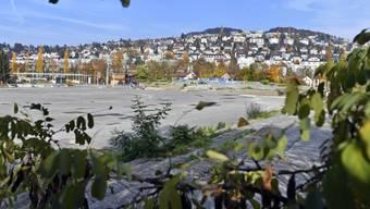Hier soll das der neue Hardturm stehen: die «Stadionbrache» in Zürich