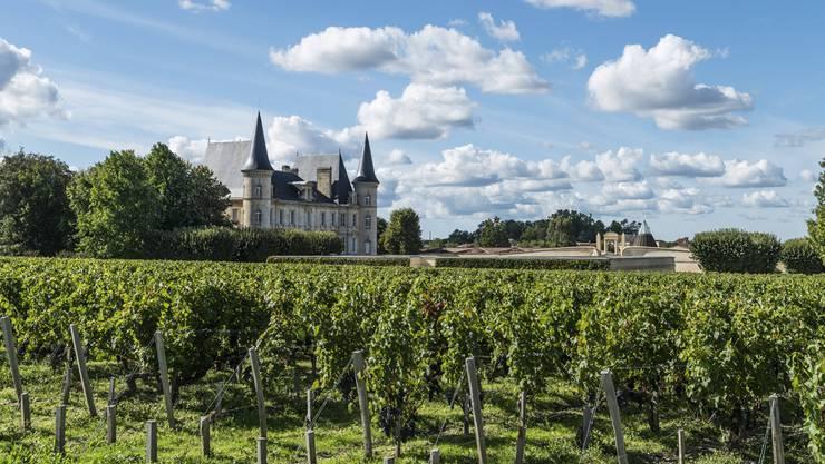 Eines der berühmtesten Weingüter von Bordeaux: Das Château Pichon-Longueville Baron (Gemeinde Pauillac).