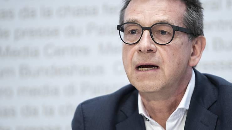 Matthias Egger, Präsident der wissenschaftlichen Task-Force des Bundesrats im Kampf gegen das Coronavirus erachtet Einschränkungen von zwei Jahren oder sogar noch länger für möglich. Quelle: KEYSTONE Fotograf: PETER SCHNEIDER
