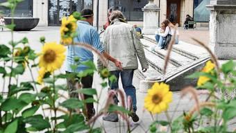 Treppe vor der Stadtkirche: manchmal Hotspot des «ungeordneten» Zusammenlebens.