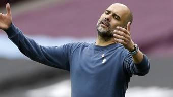Pep Guardiola hadert nach dem vergebenen Matchball von Raheem Sterling