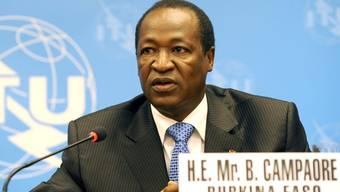 Der Staatschef von Burkina Faso spricht 2008 an einer internationalen Konferenz in Genf (Archiv)