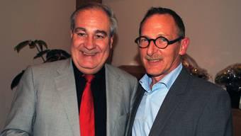 Der neue GVG-Präsident Heinz Westreicher (r.) wurde von Stadtpräsident Boris Banga beglückwünscht.