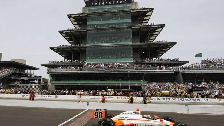 """Am legendären """"Indy 500"""" in Indianapolis sollen am 23. August 100'000 Zuschauer statt der üblichen 400'000 dabeisein können."""