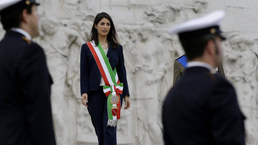 Virginia Raggi am Donnerstag in Rom, dem Tag ihres Amtsantritts als Bürgermeisterin.
