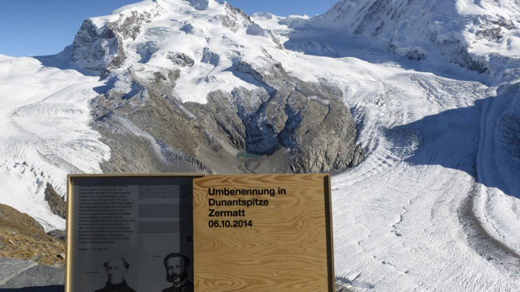 Bei der Taufe der Dunant-Spitze im Oktober zeigte sich der Berg in bestem Licht. (Archiv)