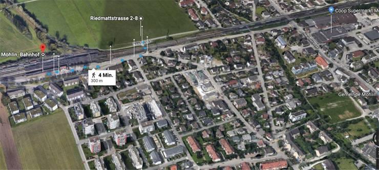 Kantonsschule in Möhlin/Rheinfelden: vier Minuten Fussweg zum Bahnhof.
