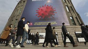 Südkorea erlebt nach Angaben der Behörden derzeit die dritte Ansteckungswelle mit Sars-Cov-2.