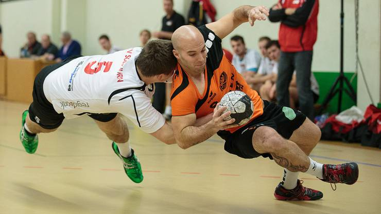 Möhlins Sandro Soder (rechts) im Spiel gegen Solothurn/Grauholz
