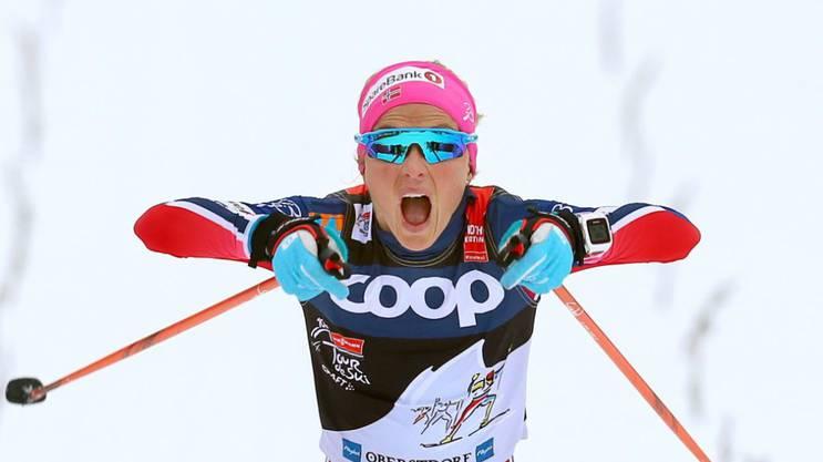 Zehn mal stand Therese Johaug diese Saison bereits zuoberst auf dem Podest. Dazu konnte sie noch an der prestigeträchtigen Tour de Ski triumphieren.