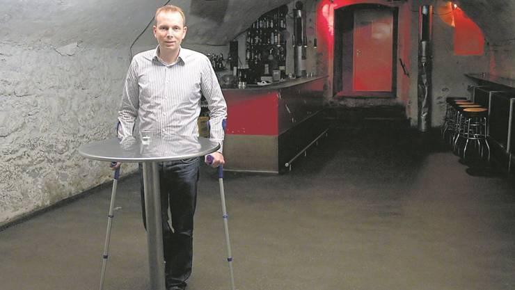 Besitzer Michael Ganz in seinem Aarauer Party-Club «Boiler»