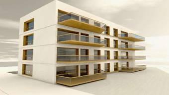 So könnte der an die Umgebung angepasst Neubau aussehen
