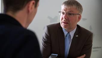 Christian Scheuermeyer (FDP) am Sonntag im Steinigen Saal.