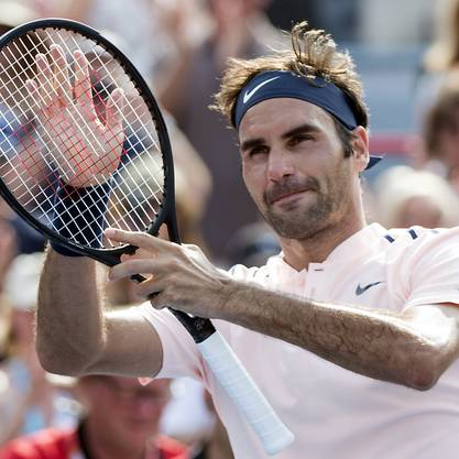 In Montreal glänzend unterwegs: Roger Federer spielt am Samstagabend im Halbfinal gegen Robin Haase.