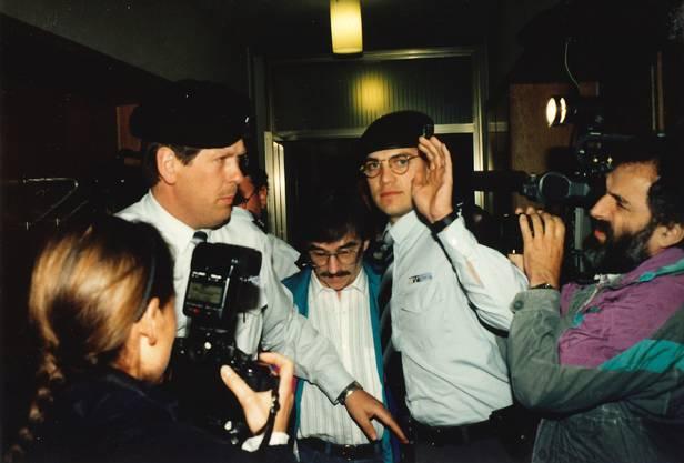 Heiner Hossli (links) während des Werner-Ferrari-Gerichtsprozesses.