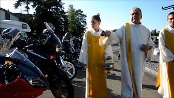 Für eine gesegnete Fahrt: Im Freiamt gibt es alljährlich an Fronleichnam einen Gottesdienst für Töfffahrer.