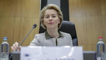 Sorgenvoll beobachtet die EU-Kommissionspräsidentin Ursula von der Leyen die Lage an den Grenzen in Bulgarien und Griechenland. (Archivbild)
