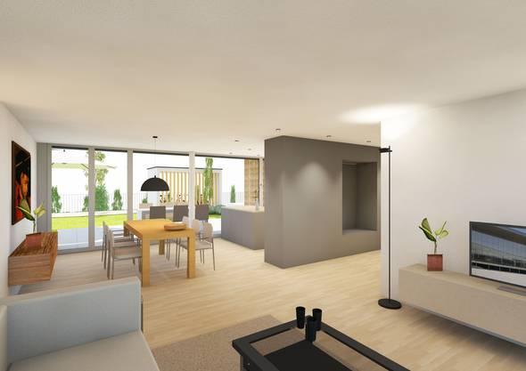 Die Wohnungen sind als Viereinhalbzimmerwohnungen konzipiert.